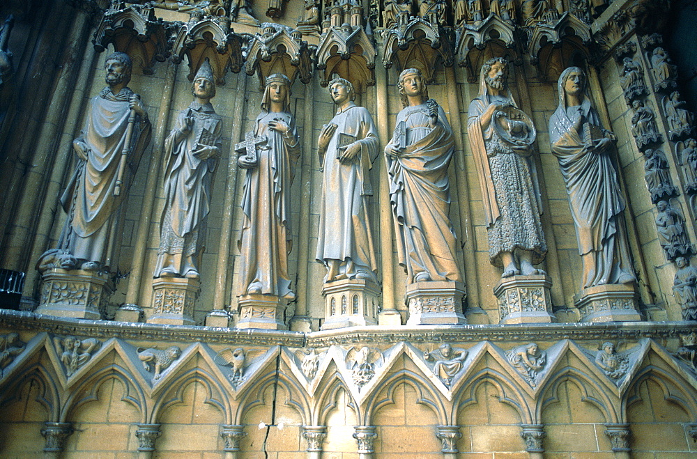 France, Lorraine, Moselle (57), Metz, The Gothic Cathedral Porch