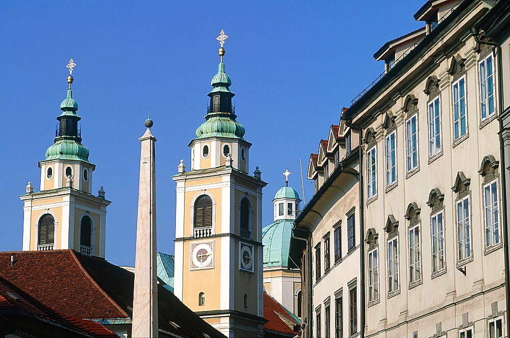 Slovenia, Ljubljana (Lubiana), The Old Town Cathedral Square, The Baroque Era Buildings - 700-11471