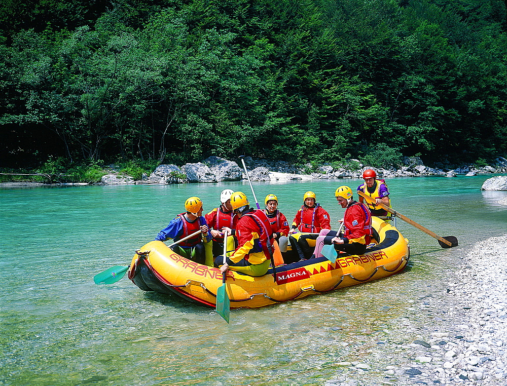 Slovenia, Alps, Upper Soca Valley, Preparing To Go Canyoning