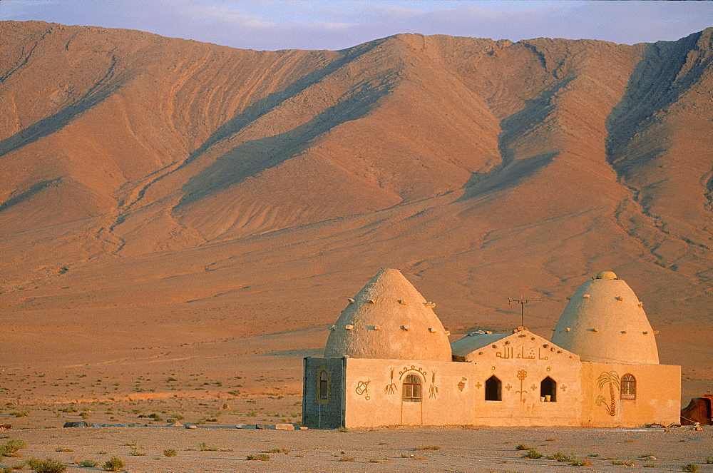 Syria, The East Desert Or Steppe, A Lonesome Mosque Close To Palmyra Oasis