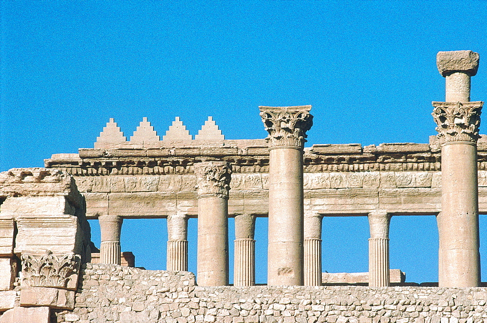 Syria, Palmyra Oasis, The Temple Of Bel Ruins Seen From Outside