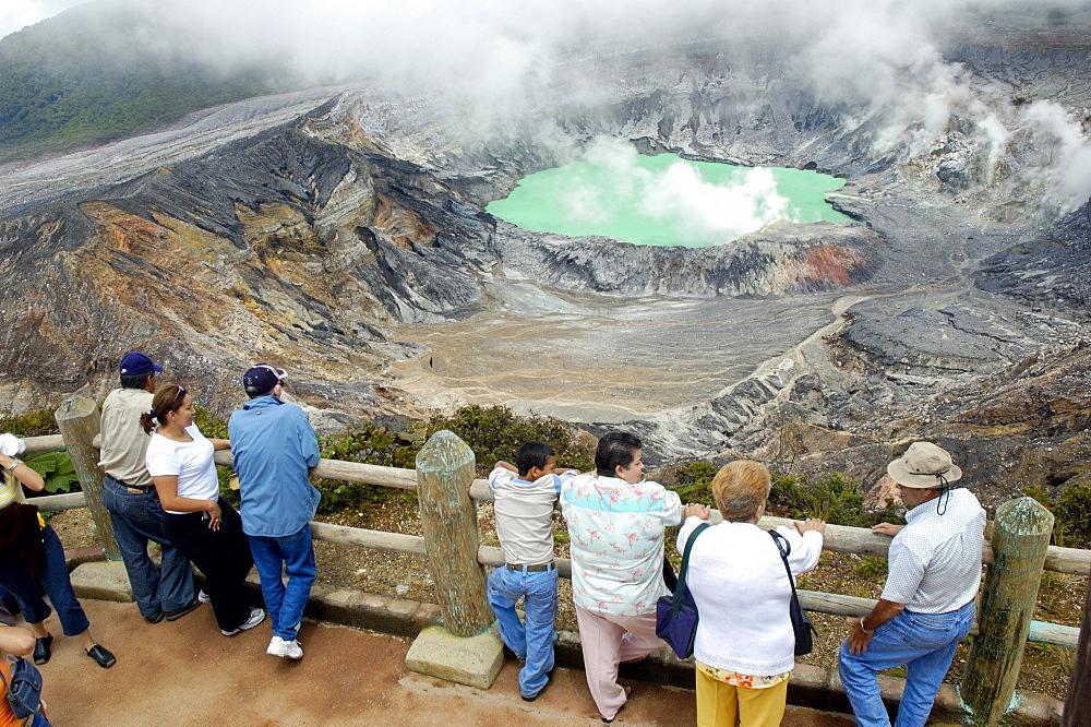 Volcano, Poas Volcano Park, Costa Rica, Central America