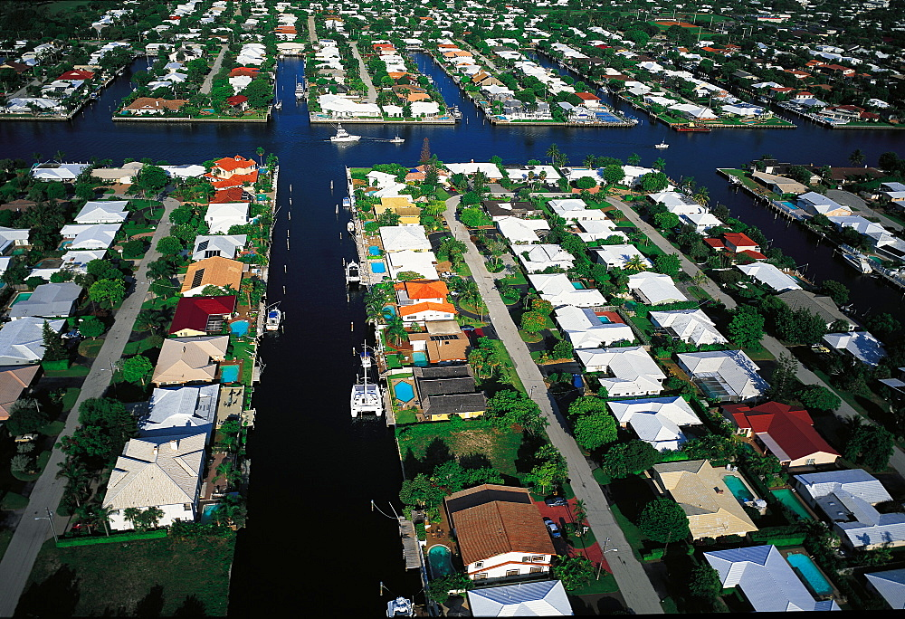 Aerial View Of Las Olas, Fort Lauderdale, Florida, Usa
