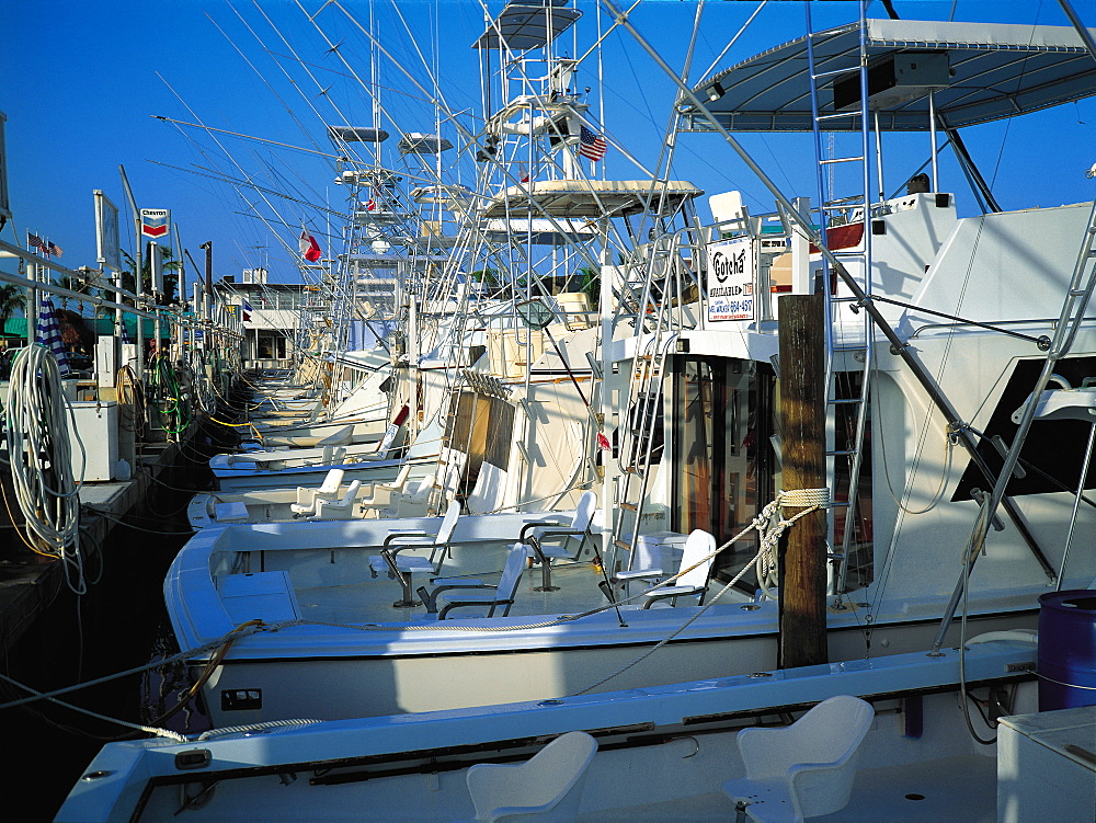 Charter Fishing Boats, Key Largo, Florida, Usa