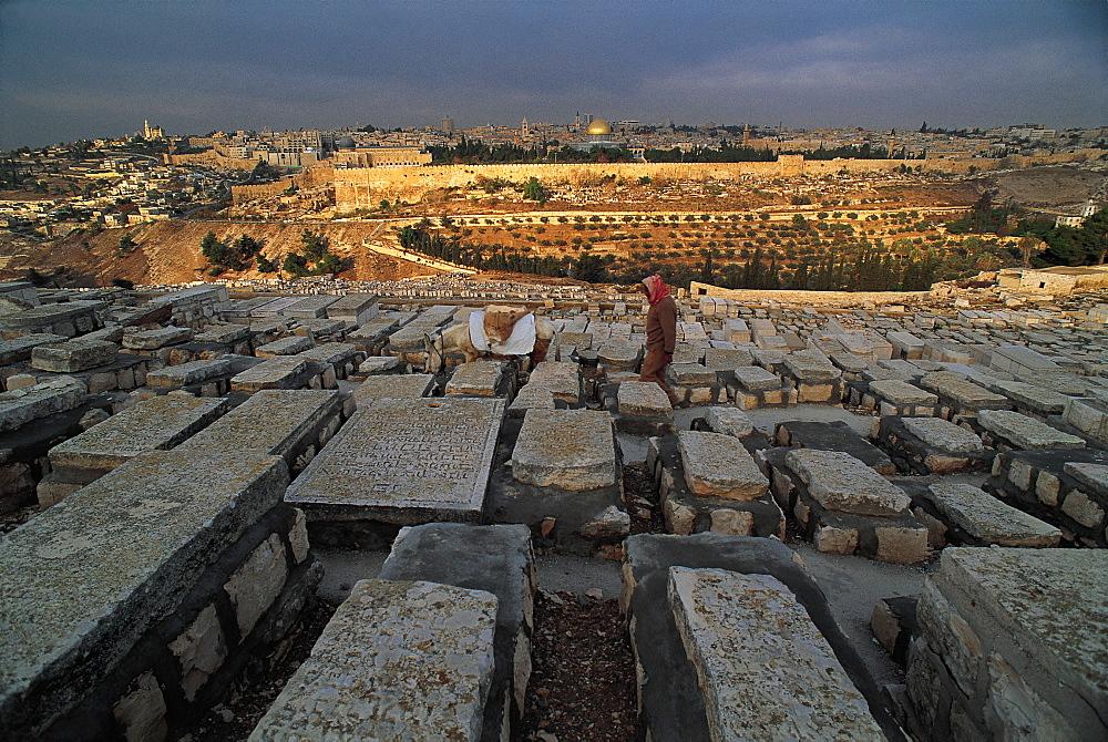 Mount Of Olives Jewish Cemetery, Jerusalem, Israel