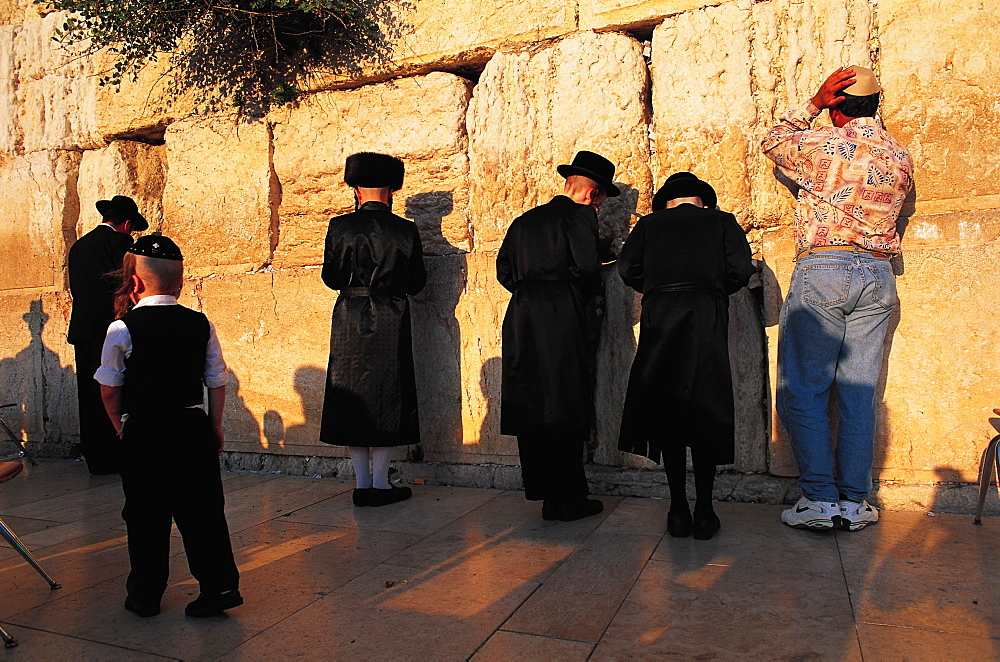 Orthodox Jews At Wailing Wall, Jerusalem, Israel