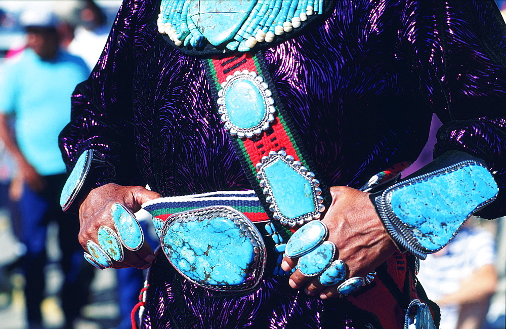 Usa, Arizona, Window Rock Festival, Zuni Turquoises