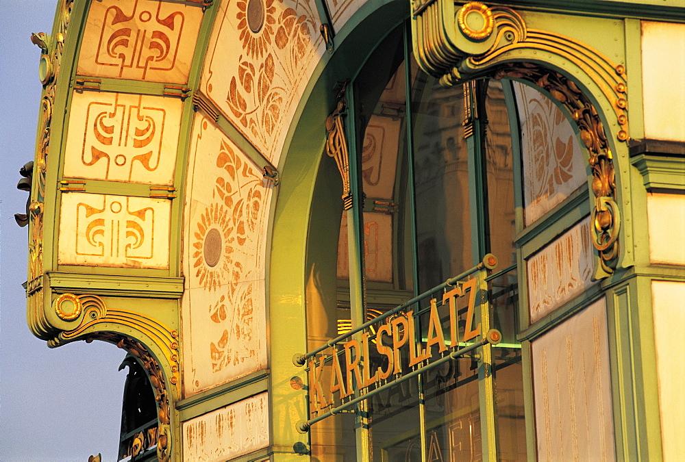 Detail, Karlsplatz Jugenstil Cafe, Vienna, Austria