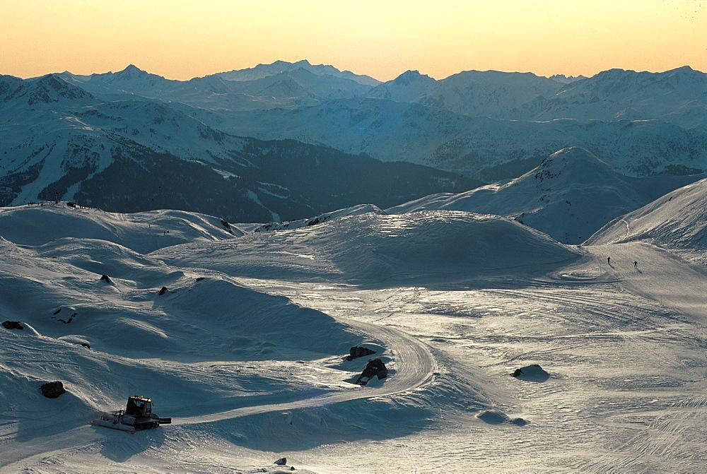 France, Alps, La Plagne Pistes