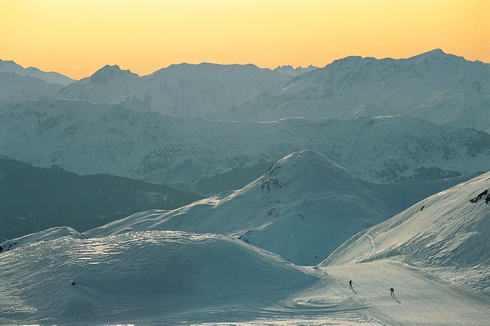 France, Alps, La Plagne Ski Pistes