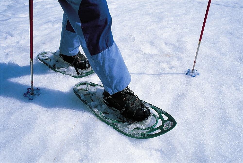 France, Alps, Snowshoes