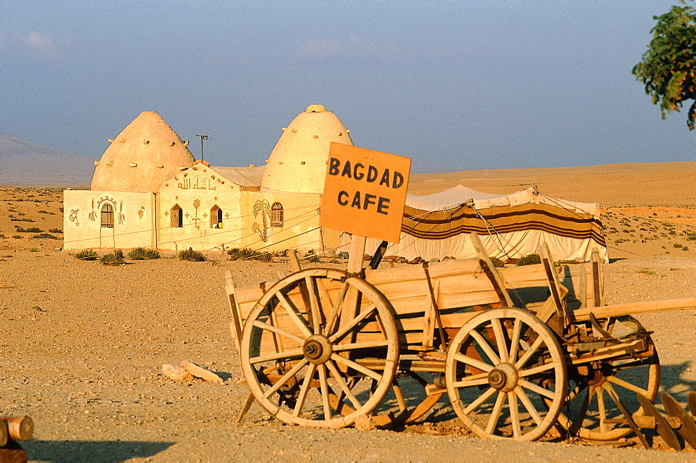 Syria, West Desert, Bagdad Cafe A Bedouins Camp Open To Visitors On The Road To Baghdad