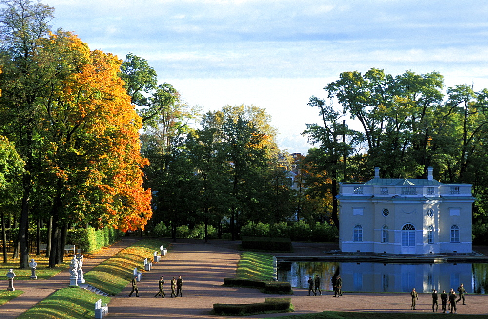 Russia, Saint Petersburg, Tsarskoie Selo (Pushkin)Catherine Ii Castle & Park