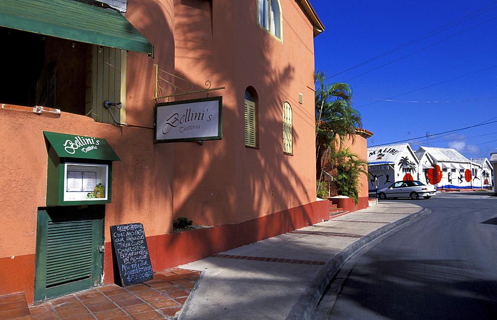 Caribbean, West Indies, Barbados, Bridgetown Street, Rum Shop At Rear