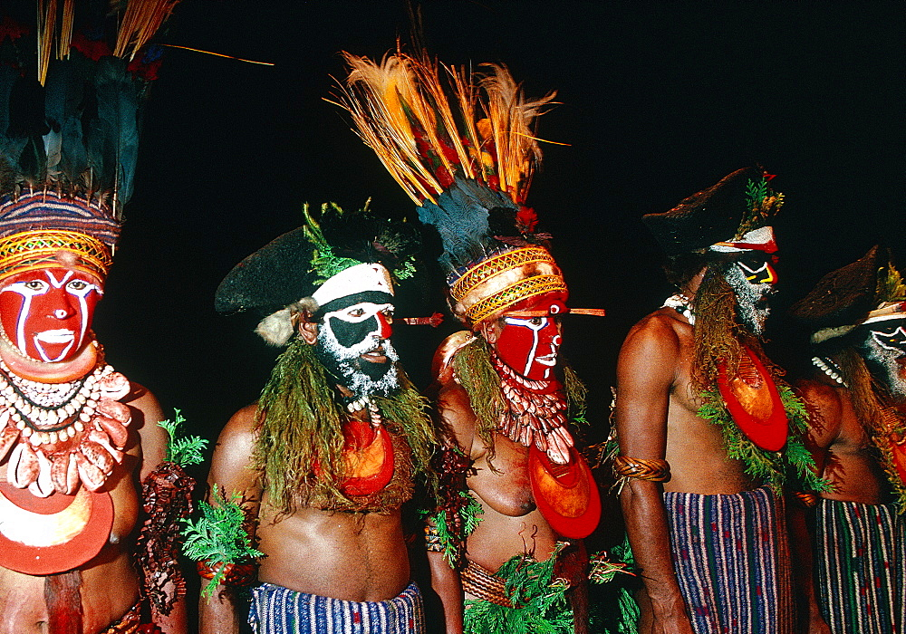 Papua New Guinea, Port Moresby, Traditional Sepik Tribe Sacred Dance