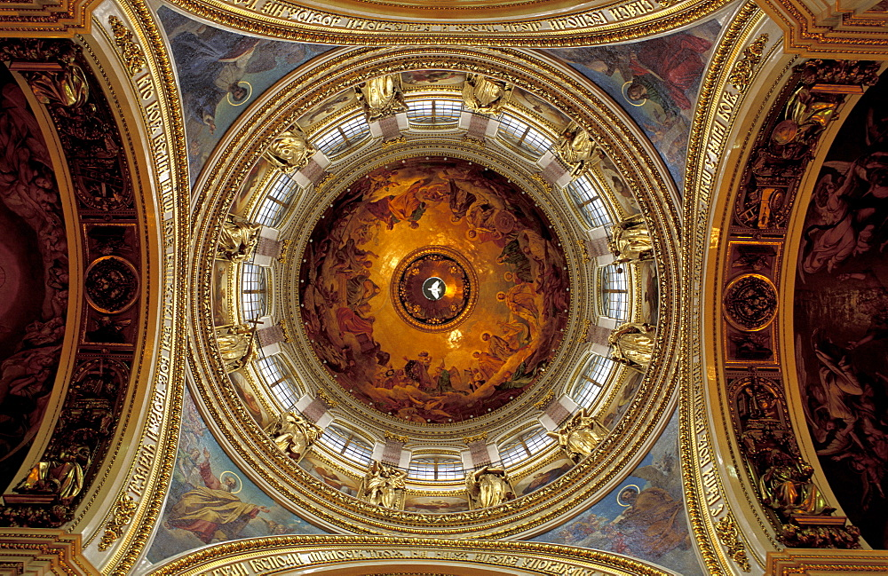 Russia, St-Petersburg, St Isaac Church, The Dome Seen From Below