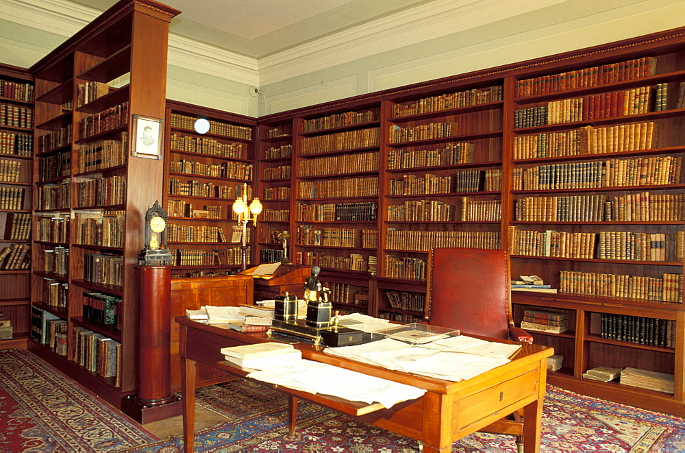 Russia, St-Petersburg, Writer Pushkin Apartment Now A Museum, His Library