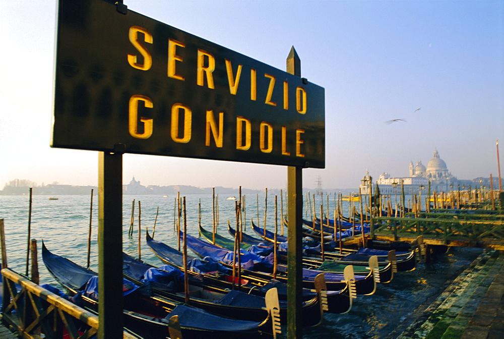 Gondolas, Halia, Venice, Veneto, Italy - 700-9272