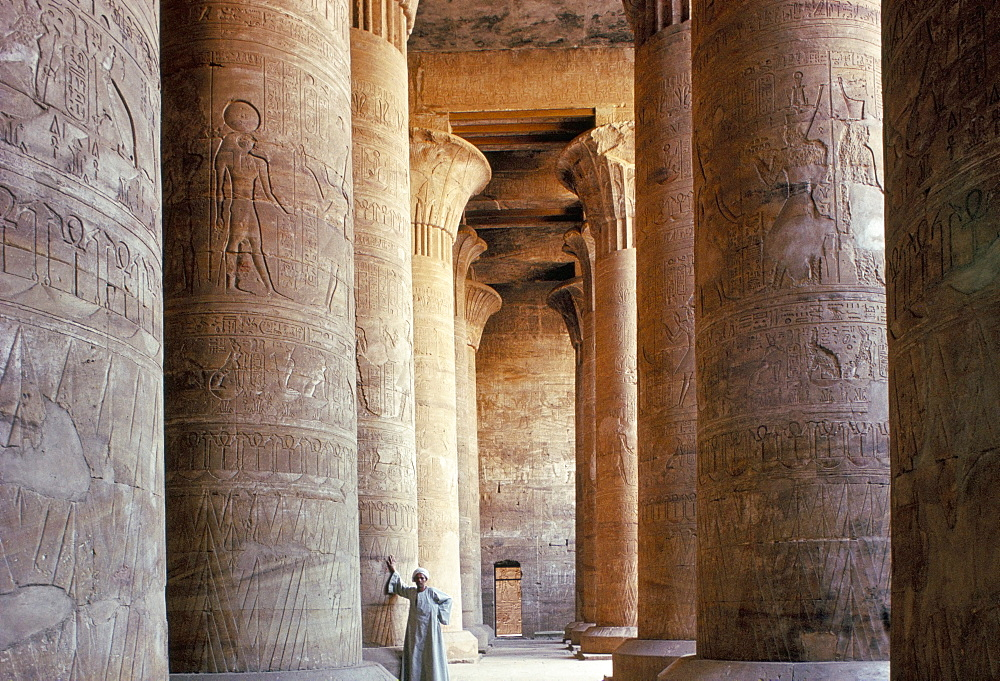 The temple at Edfu, Egypt, North Africa, Africa