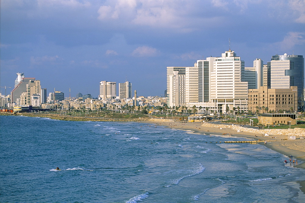 View from Jaffa of Tel Aviv, Israel, Middle East