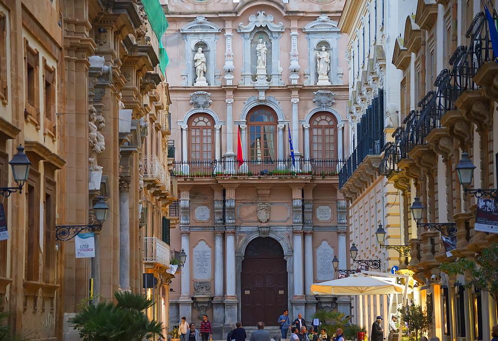 The Palazzo Senatorio, Trapani, Sicily, Italy, Europe