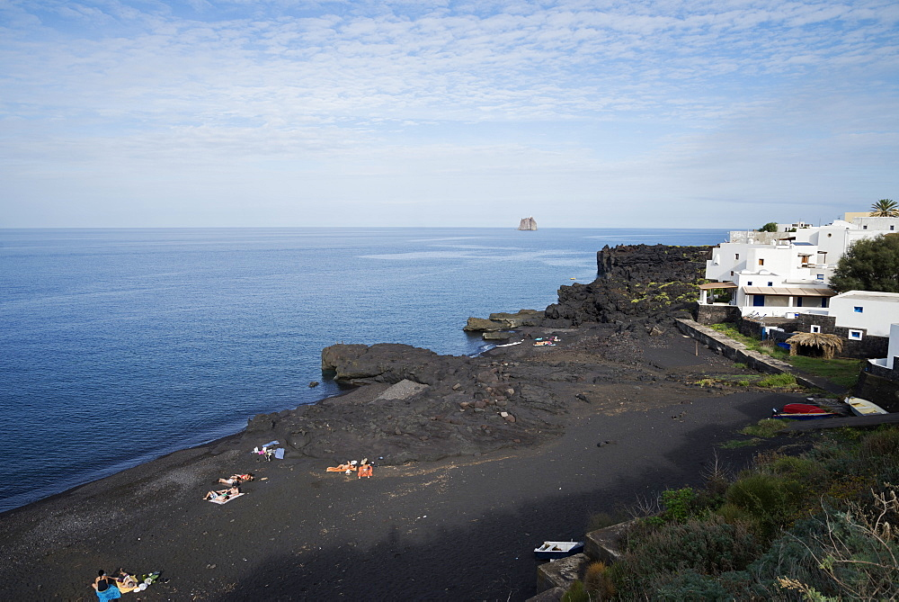 Beach, Stromboli, Aeolian Islands, UNESCO World Heritage Site, Sicily, Italy, Mediterranean, Europe