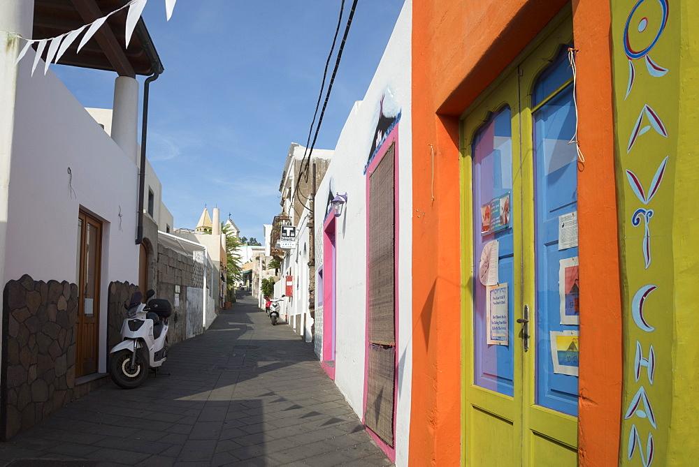Architecture, Stromboli, Aeolian Islands, UNESCO World Heritage Site, Sicily, Italy, Mediterranean, Europe