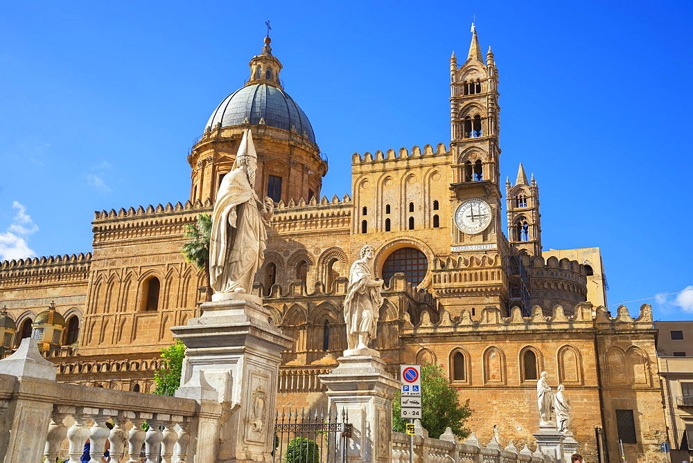 Palermo Cathedral, Palermo, Sicily, Italy, Europe - 718-2148