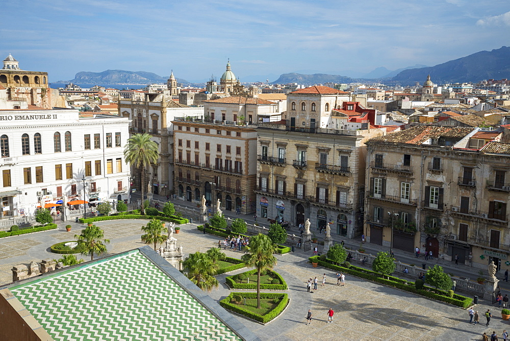 Palermo Cathedral square, Palermo, Sicily, Italy, Europe - 718-2151