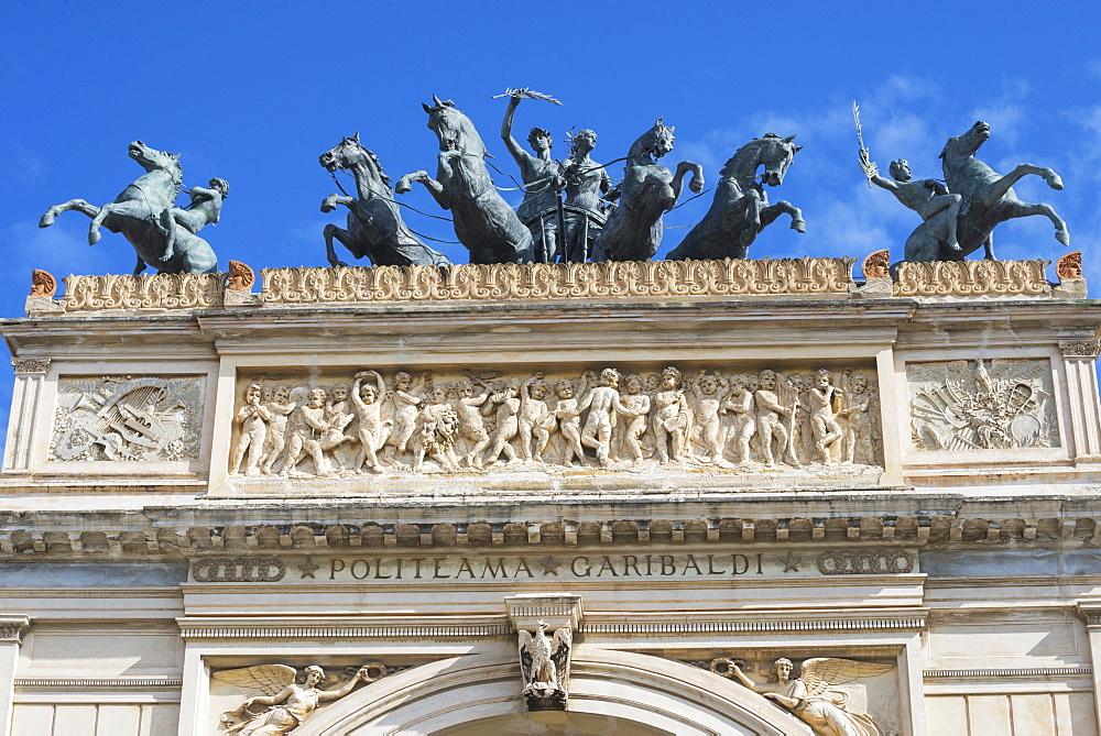 Politeama Theater, Palermo, Sicily, Italy, Europe - 718-2155