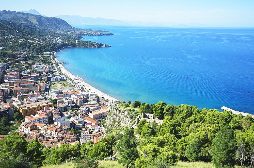 Cliff La Rocca, Cefalu, Sicily, Italy, Mediterranean, Europe - 718-2162