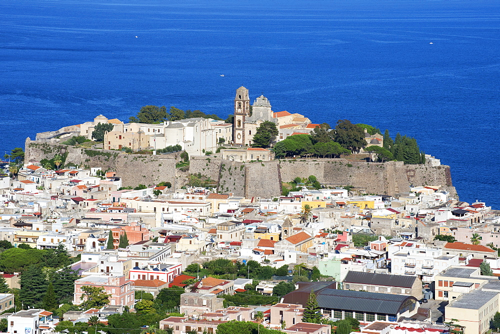 Lipari Town, Lipari Island, Aeolian Islands, UNESCO World Heritage Site, Sicily, Italy, Mediterranean, Europe - 718-2170