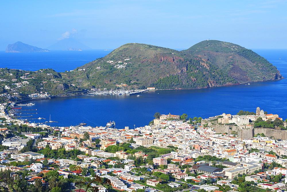 Lipari Town, Lipari Island, Aeolian Islands, UNESCO World Heritage Site, Sicily, Italy, Mediterranean, Europe - 718-2171