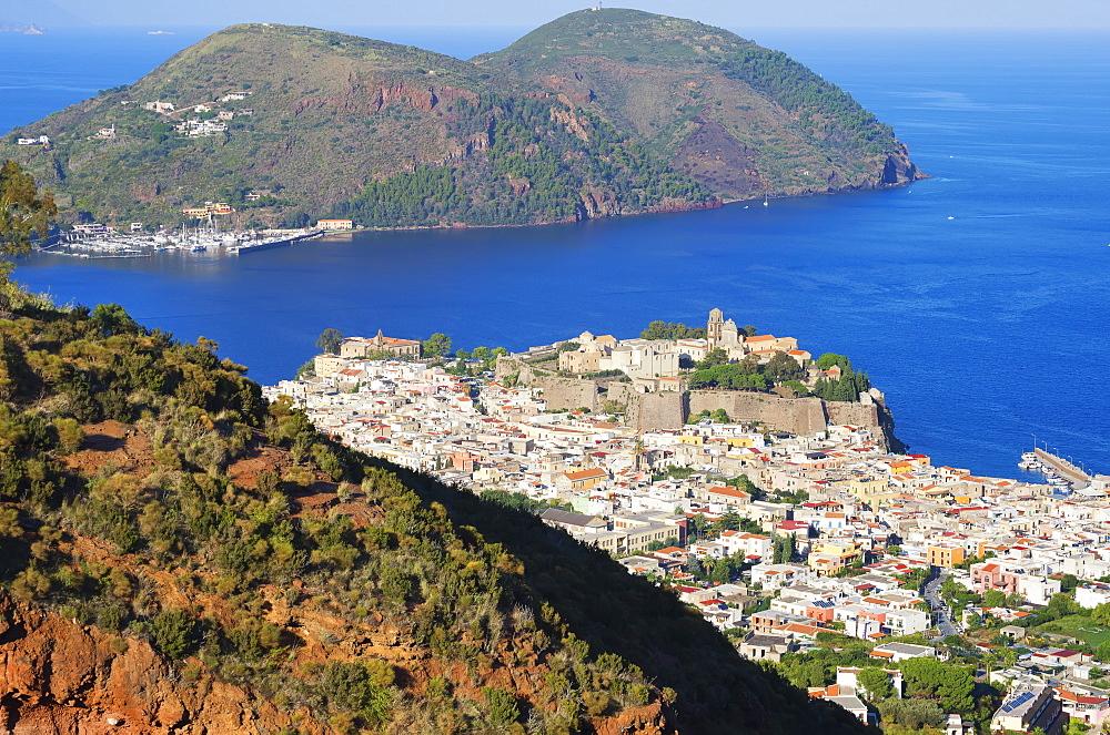 Lipari Town, Lipari Island, Aeolian Islands, UNESCO World Heritage Site, Sicily, Italy, Mediterranean, Europe - 718-2172