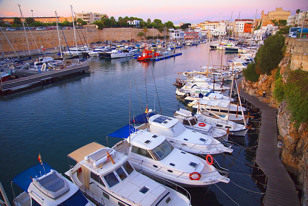Historic old harbor, Ciutadella, Menorca, Balearic Islands, Spain, Mediterranean, Europe - 718-2231