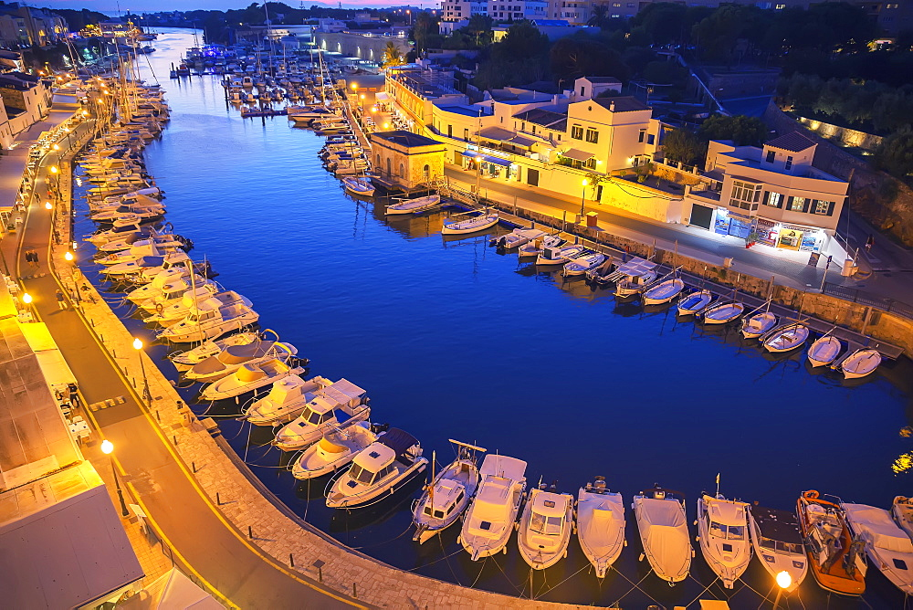 Historic old harbor, Ciutadella, Menorca, Balearic Islands, Spain, Mediterranean, Europe - 718-2237
