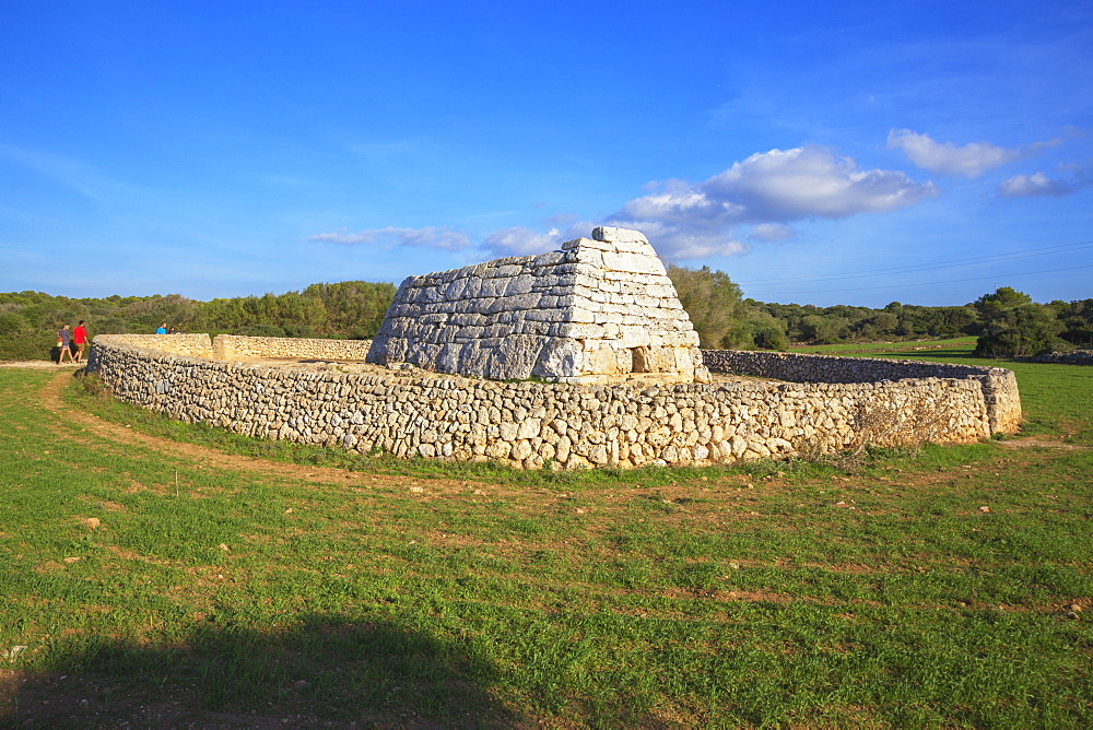Naveta or megalithic tomb at the site of Es Tudons, Menorca, Balearic Islands, Spain, Mediterranean, Europe - 718-2241