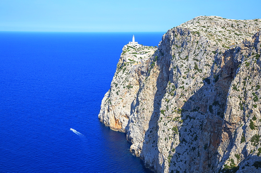 Lighthouse at Cap de Formentor, Mallorca (Majorca), Balearic Islands, Spain, Mediterranean, Europe - 718-2261