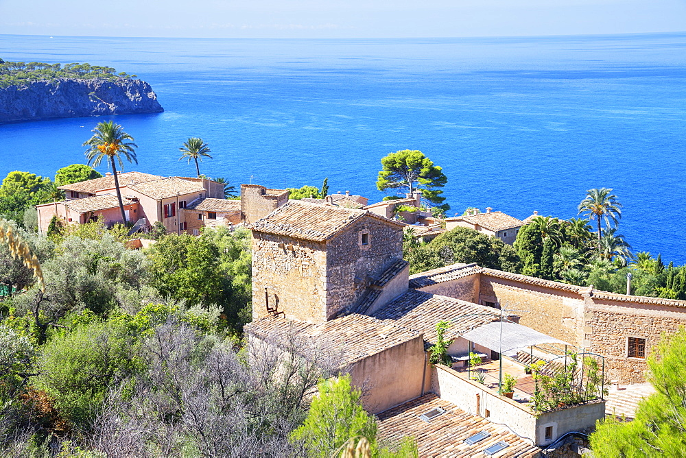 View of Lluc Alcari village near Deia, Mallorca (Majorca), Balearic Islands, Spain, Mediterranean, Europe - 718-2270