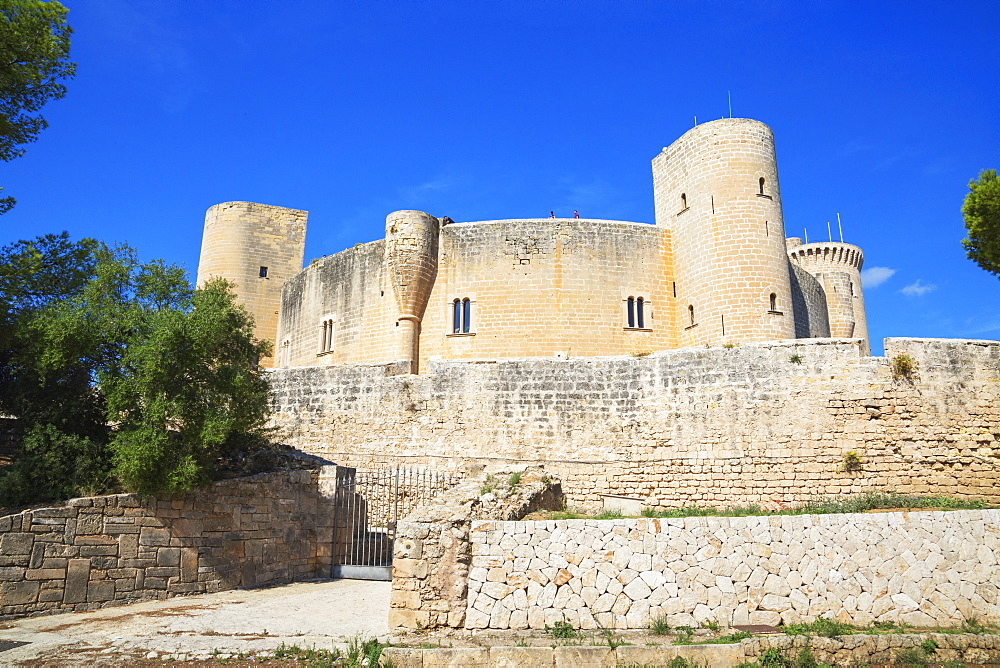 Bellver Castle, Palma de Mallorca, Mallorca (Majorca), Balearic Islands, Spain, Europe - 718-2277
