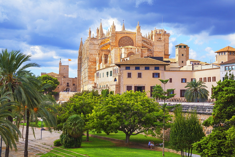 La Seu Cathedral, Palma de Mallorca, Mallorca (Majorca), Balearic Islands, Spain, Europe - 718-2283