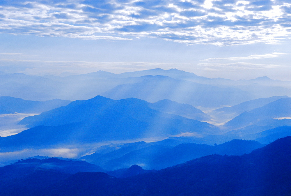 View of the Himalayan mountains from Nagarkot village, Nepal - 718-474