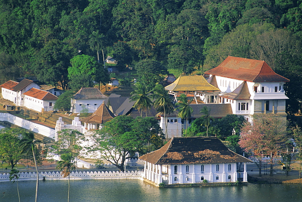 The Dalada Maligawa, or Temple of the Tooth, famous temple housing tooth relic of the Buddha, in the town of Kandy, Sri Lanka