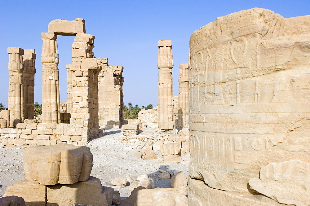 The temple of Soleb built during the reign of Amenophis III, Soleb, Nubia, Sudan, Africa