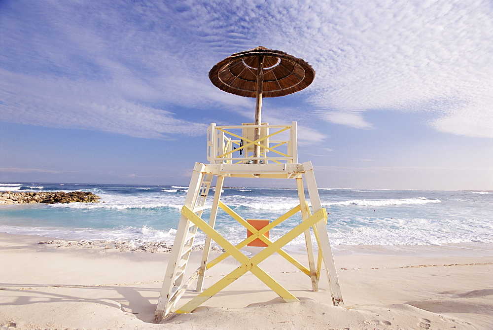 Lifeguard tower, Cabbage Beach, Nassau, New Providence Island, Bahamas, West Indies, Central America