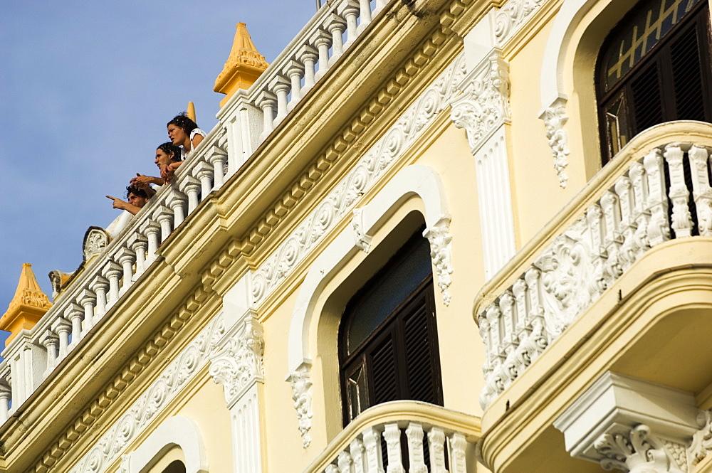 People on Roof, Havana, Cuba