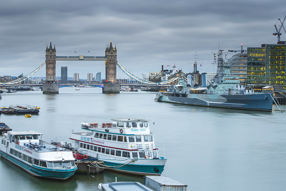 Tower Bridge on the River Thames, London, England, United Kingdom, Europe