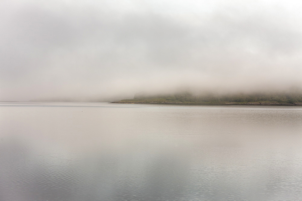 Loch Fyne in early mist, Scotland, United Kingdom, Europe