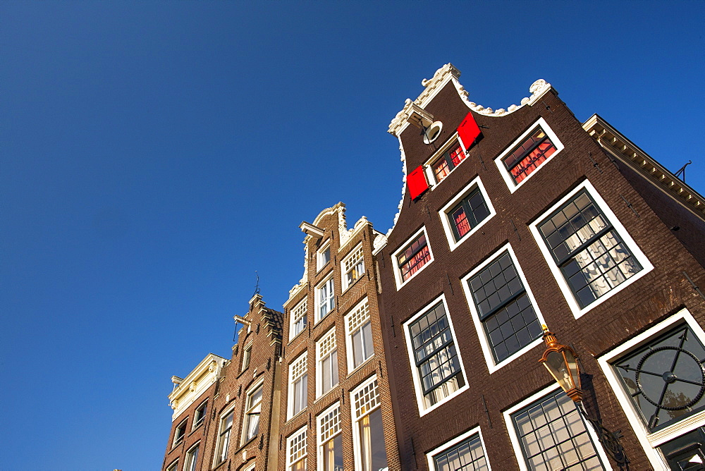 Traditional buildings, Amsterdam, The Netherlands, Europe