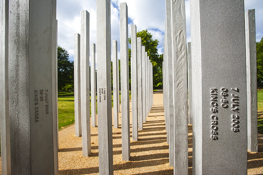 7th July Memorial in Hyde Park, London, England, United Kingdom, Europe